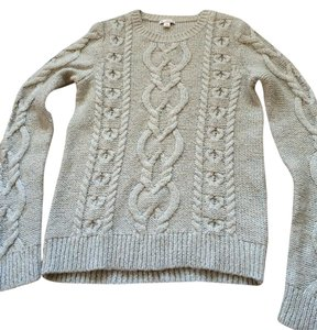 Gap Holiday Knit Silver Sweater