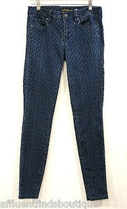 Genetic Denim Shya Blue Diamond Skies Print Skinny 25 Skinny Jeans