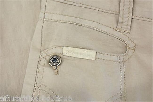 Dolce&Gabbana Dg Tan Capri W Pink Rhinestones Or Capri/Cropped Pants Brown
