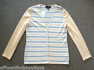 St. John John Apricotpeach Striped Knit P Sweater