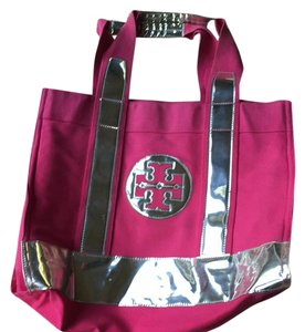 Tory Burch Tote in Pink/ Silver