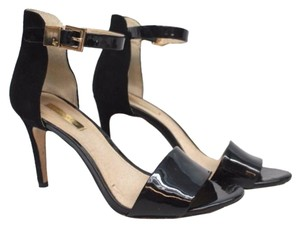 Louise et Cie Black suede and patent leather Sandals