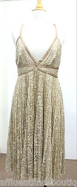 Preload https://item3.tradesy.com/images/gai-mattiolo-pegaso-beige-lace-pleated-dress-or-1932407-0-0.jpg?width=400&height=650