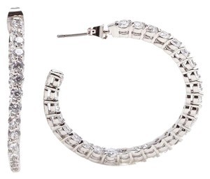 CZ by Kenneth Jay Lane CZ By Kenneth Jay Lane Inside Out Hoop Earrings