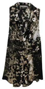 Chelsea Flower Top Black / tan / beige