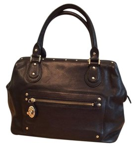 Ellen Tracy Doctor Turnlock Satchel in Black