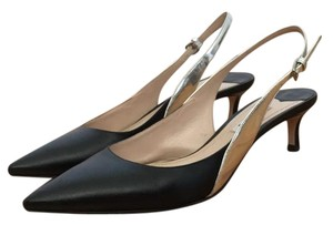 Miu Miu Black & Silver Pumps