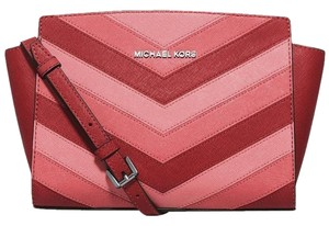 Michael Kors Satchel in Coral /Silver Hardware