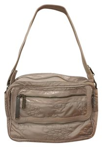 adidas By Stella McCartney Lesportsac Quilted Overnight Weekender Beige Travel Bag