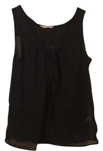 Old Navy Sheer Sleeveless Drape Flowy Top Black