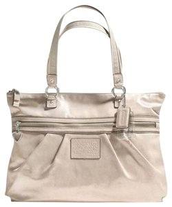 Coach Shimmer Silver Gold Tote in Champagne Metallic