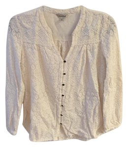 Lucky Brand Patterns Top off-white
