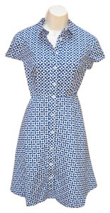 Boden short dress Blue White Short Geometric on Tradesy