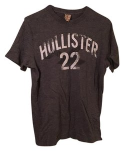 Hollister Oversized Cotton Soft Casual T Shirt Gray