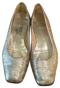 Other Vintage Square Toe Retro Size 8 Silver Flats