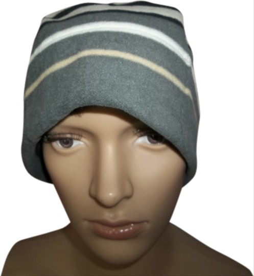 Old Navy Old Navy Striped Beanie Hat, Black/Gray/Tan/White
