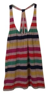 American Eagle Outfitters Striped Draped Comfortable Soft Sleeveless Top