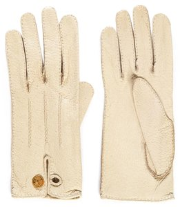 Hermès Hermes Ivory Leather Gloves SZ 7.5