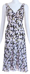 Diane von Furstenberg short dress Silk Floral A-line V-neck on Tradesy