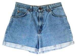 Levi's Vintage Orange Tab Cuffed Shorts denim