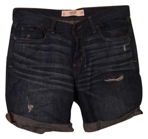 Abercrombie & Fitch Distressed Denim Boyfriend Cuffed Shorts