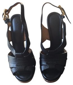 Chloé Black Wedges
