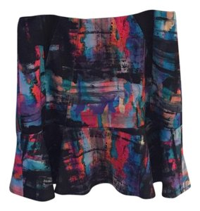 Nicole Miller Elegant Colors Patterns Skirt multicolor