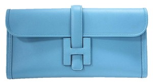Hermès Hermes Elan Swift blue Clutch