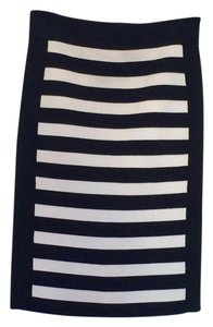 Juicy Couture And Stripped Fitted Skirt Black & White