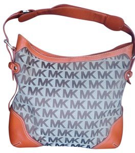 Michael Kors Canvas Leather Hobo Bag