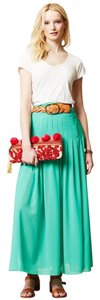 Anthropologie Maeve Slit Maxi Skirt Green
