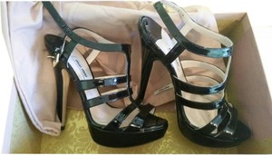 Miu Miu Black Patent Sandals