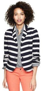 Gap Work Black White Stripe Blazer