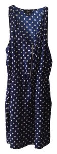 Aqua short dress Blue with white dots Retro on Tradesy
