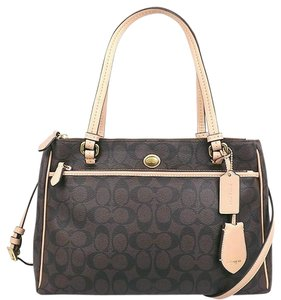 Coach Tote in Mahogany Brown Black