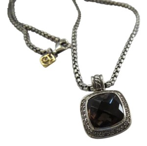 David Yurman Albion 11mm Smokey Quartz/Pave' Diamond Necklace; 19