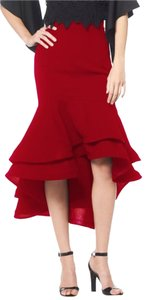 Gracia Ruffled Skirt Red
