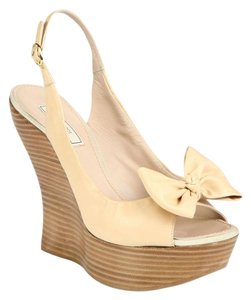 Nina Ricci blush pink Wedges