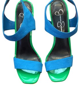 Jessica Simpson Turquoise & Green Platforms