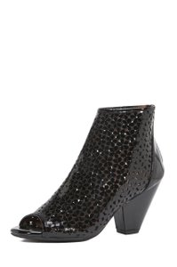 Jeffrey Campbell Purl Daisy Open Toe Black Boots