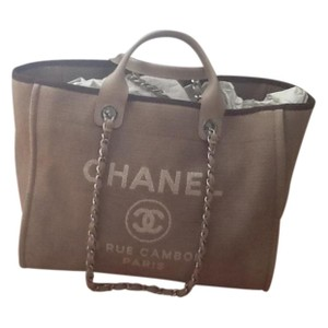 Chanel Deauville Large Tote in Beige