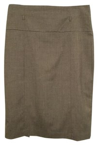 Worthington High Waist Stretch Skirt Gray