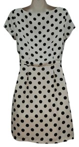 LC Lauren Conrad short dress Beige Polka Dot Cream Short Sleeve on Tradesy