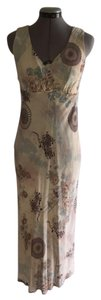 Cream with Multi print Maxi Dress by Cinnamon Girl Boutique Asian Inspired Romantic