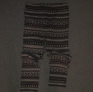 Free People Cream, charcoal, black and grey Leggings