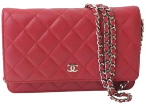 Chanel Wallet Woc red Clutch