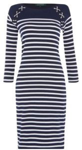 Lauren Ralph Lauren short dress Navy white on Tradesy