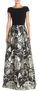 Theia Floral Print Maxi Gown Dress
