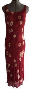 Red with cream print Maxi Dress by Cinnamon Girl Boutique Floral Romantic