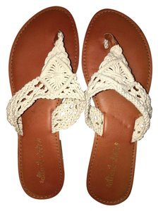 Altar'd State Crotchet white Sandals